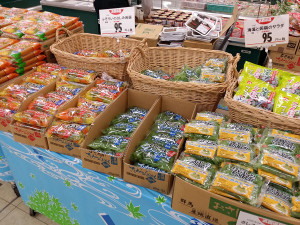 スーパーの商品陳列(改善前)