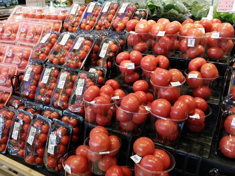 トマトの陳列演出
